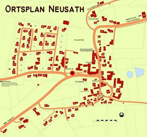 Ortsplan von Neusath - klein